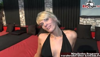 going deep busty horny housewife fucked by two studs