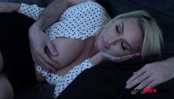 Buddy Johnny Sins fucks gorgeous pornstar Peta Jensen on the table in dirty basement
