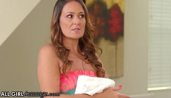 lesbian plays with her bound girlfriend