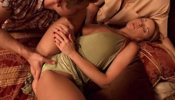 Slutty stepmom love a threesome and taking it up her ass